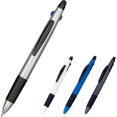 3色ボールペン+タッチペン カラー(ブルー/シルバー/0ブラック/ホワイト)