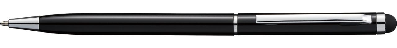タッチペン付メタルスリムペン ブラック