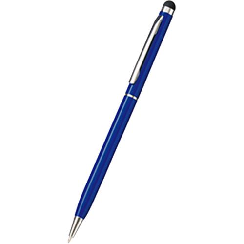 タッチペン付メタルスリムペン ネイビー