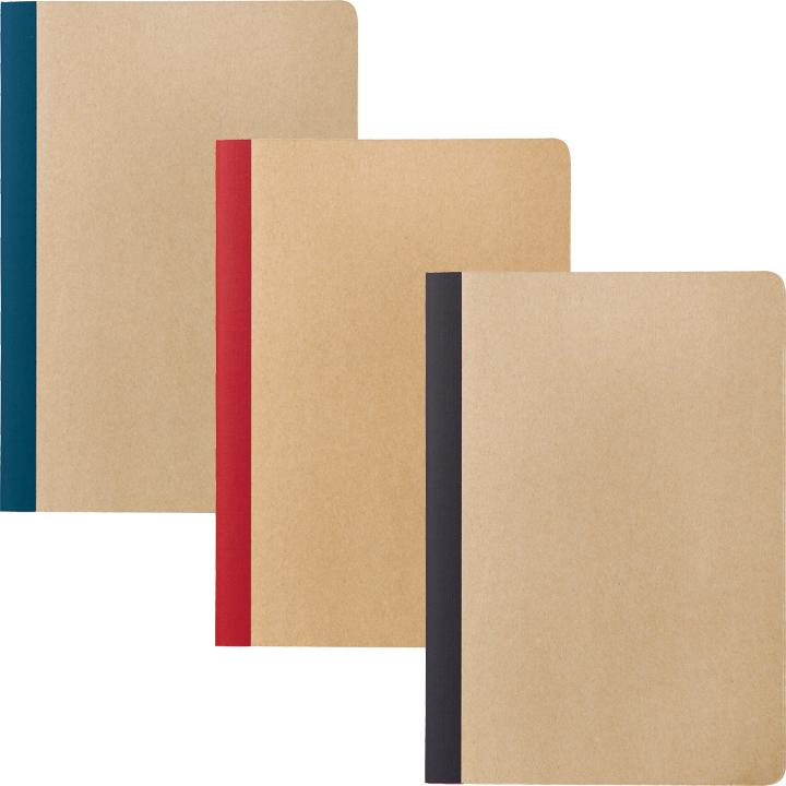 リサイクルA5ノート カラー(ブルー/レッド/ブラック)