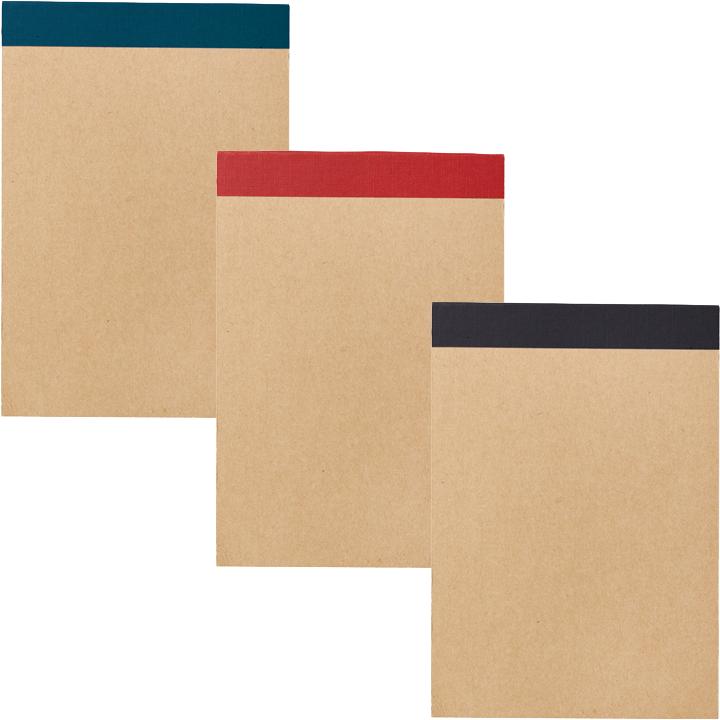 リサイクルA6メモパッド カラー(ブルー/レッド/ブラック)