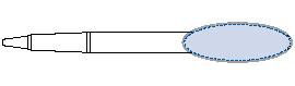 オーバルクリップボールペン デザインスペース