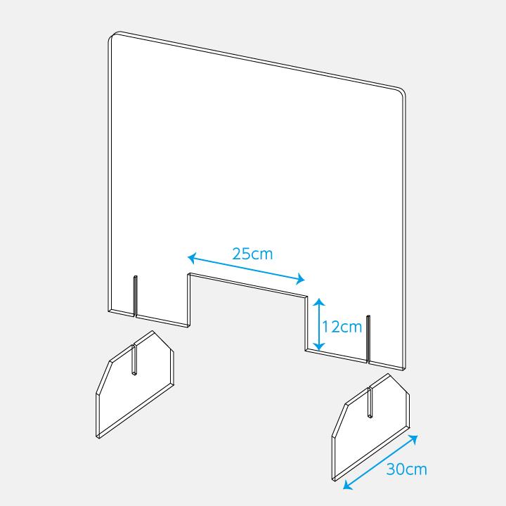 飛沫防止対策用 アクリルパーテーション 簡単設置